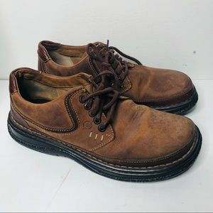 Born oxford lace up leather brown shoes 44/10